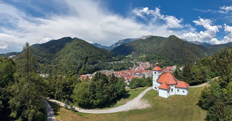 Panoramaansicht von Trzic, Slowenien, Europa lizenzfreie stockfotos
