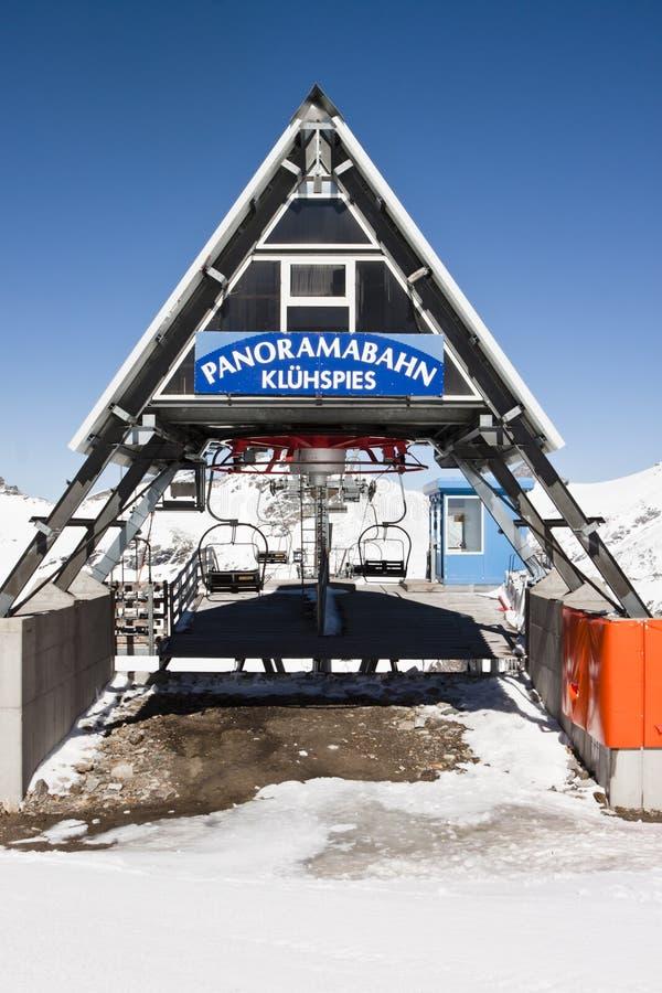 Panoramabahn an Molltaler-Gletscher, Österreich stockfotografie