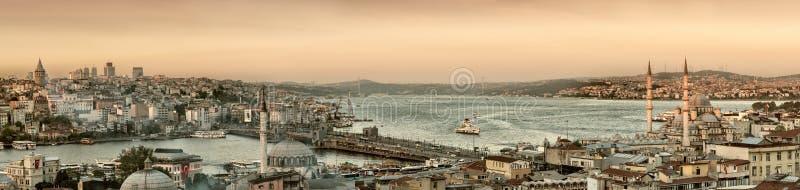 Panoramabild von Istanbul lizenzfreie stockfotografie