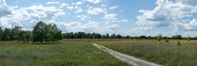 Panoramablick der Landseite stockbilder