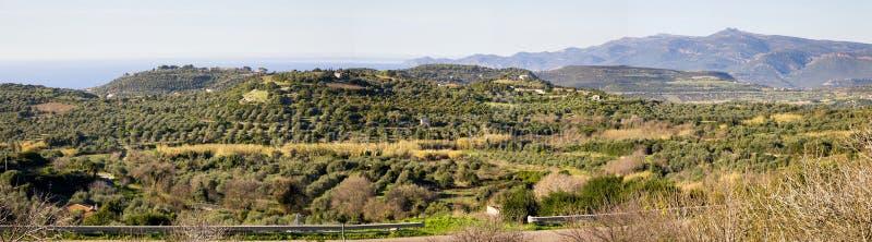 Panoramablick der Landseite von Sardinainsel, Italien lizenzfreies stockbild