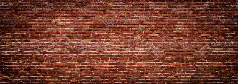 Panoramablick der Maurerarbeit, Backsteinmauer als Hintergrund lizenzfreie stockfotos
