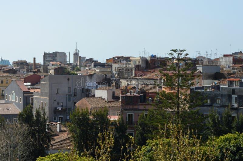 Panoramablick der Stadt Catania stockfoto