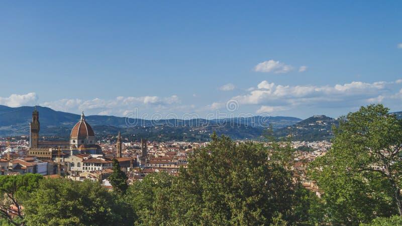 Panoramablick der Stadt von Florenz, Italien lizenzfreie stockbilder