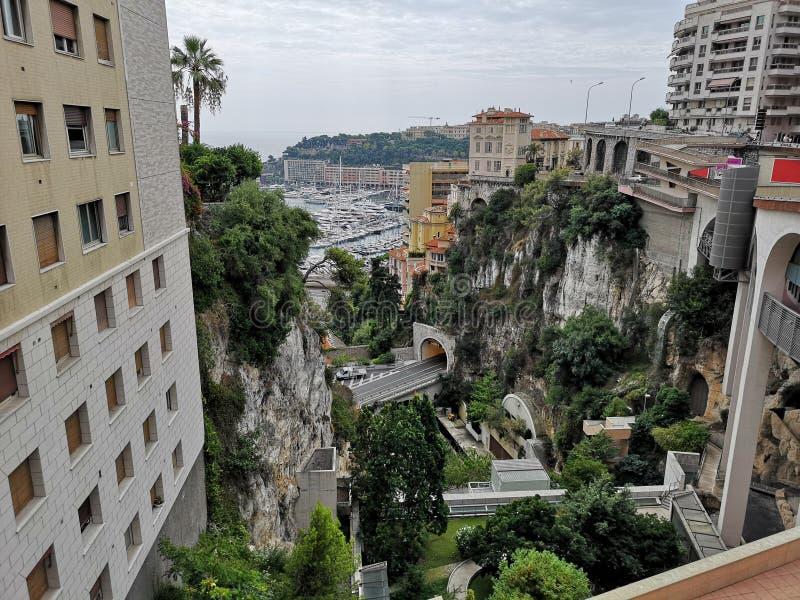 Panoramablick der Stadt von MÃ-³ naco stockfotos
