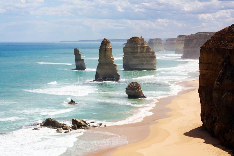 Panoramablick der zwölf Apostel, großer Ozean lizenzfreie stockfotos