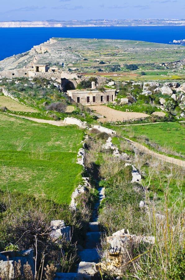 Panoramablick des nördlichen Teils von Malta und von G stockbilder