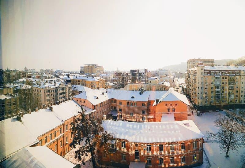 Panoramablick einer alten Stadt stockfotografie