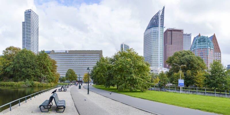 Panoramablick im Den Haag-Stadtzentrum lizenzfreie stockfotografie