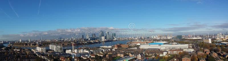 Panoramablick Londons Vereinigtes Königreich stockfotografie