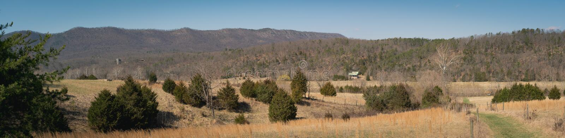 Panoramablick Nationalparks Shenandoah, Virginia stockfotos