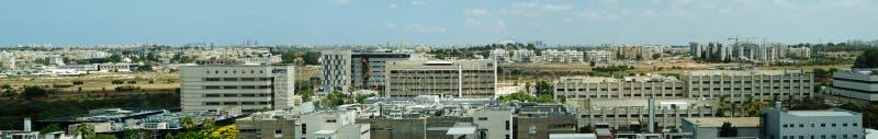 Panoramablick Nes Ziona lizenzfreie stockbilder