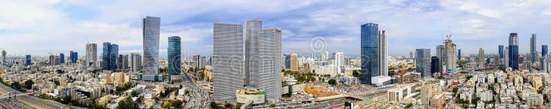 Panoramablick Telefons Aviv Skyline lizenzfreie stockfotos