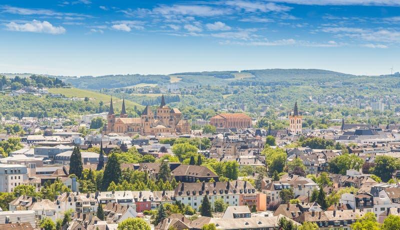 Panoramablick Trier Rheinland Pfalz Deutschland stockfoto