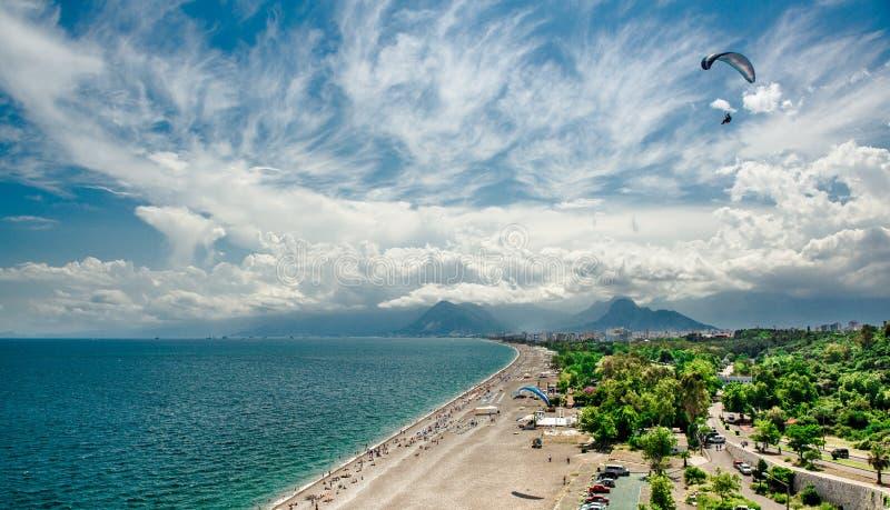 Panoramablick von Antalya-Stadt stockfoto