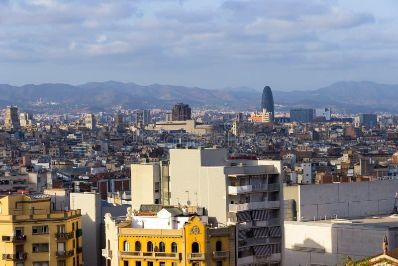 Panoramablick von Barcelona lizenzfreies stockbild