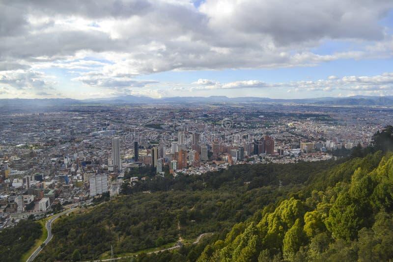 Panoramablick von Bogota-Stadt stockbild