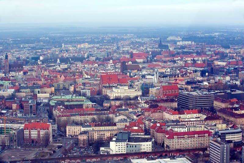 Panoramablick von Breslau stockfotos