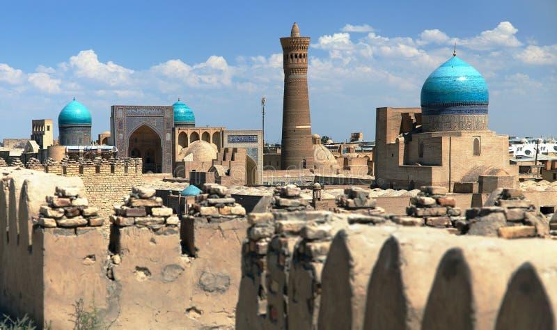 Panoramablick von Bukhara von der Arche stockfoto
