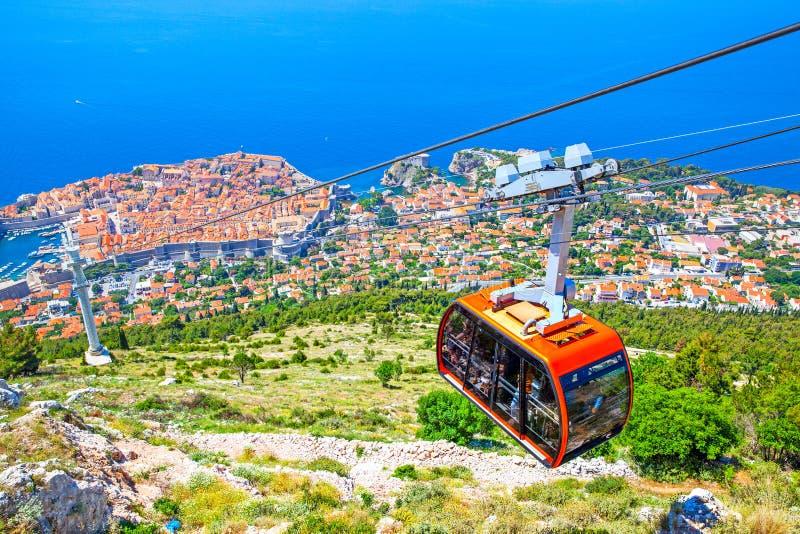 Panoramablick von Dubrovnik lizenzfreie stockfotografie