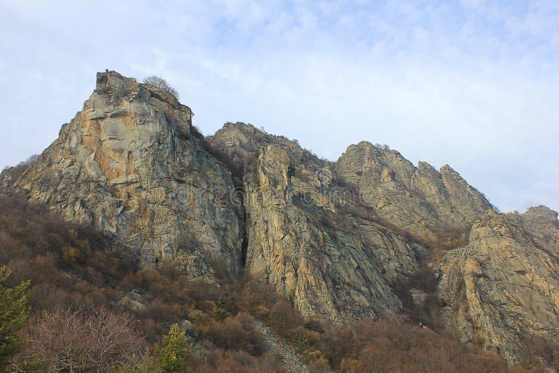 Panoramablick von Felsen stockbilder
