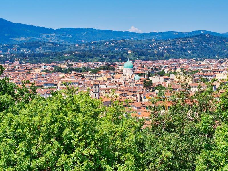 Panoramablick von Florenz, Toskana, Italien lizenzfreies stockbild