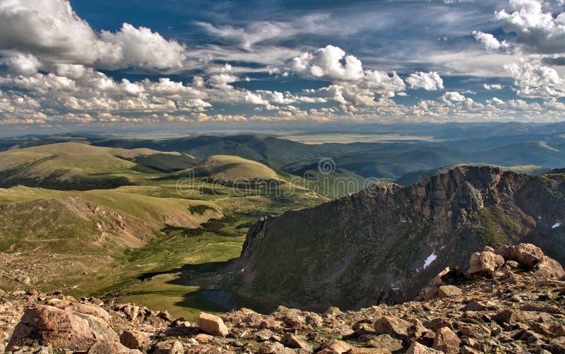 Panoramablick von Gipfel Mt Evans lizenzfreies stockfoto