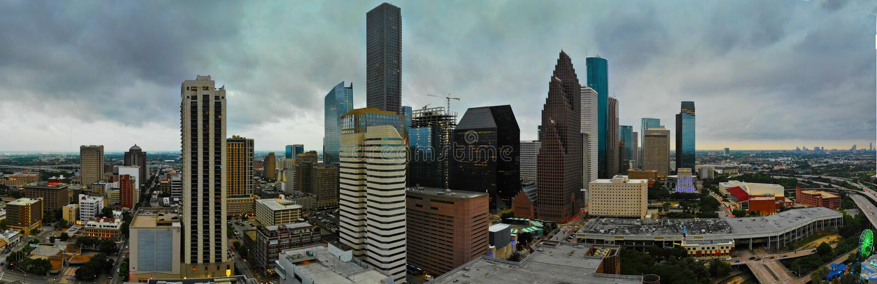 Panoramablick von Houston Downtown lizenzfreie stockfotos