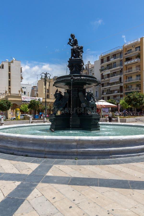 Panoramablick von König George I Square in Patras, Peloponnes, Griechenland stockfoto