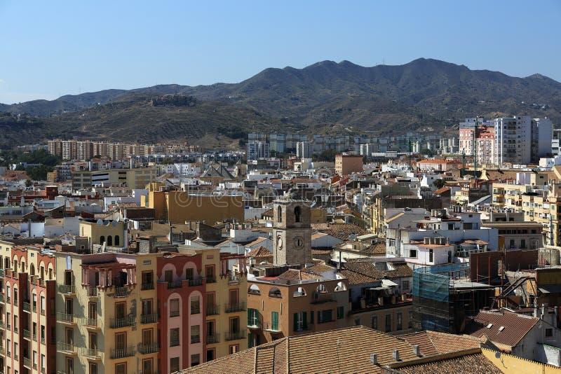 Panoramablick von Màlaga, La Alcazaba, Histiric-Gebäude, Màlaga, Spanien stockbilder