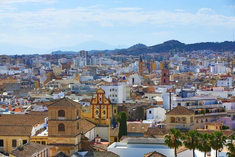 Panoramablick von Màlaga, La Alcazaba, Histiric-Gebäude, Màlaga, Spanien lizenzfreie stockfotos