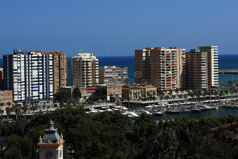 Panoramablick von Màlaga, La Alcazaba, Histiric-Gebäude, Màlaga, Spanien stockfotos