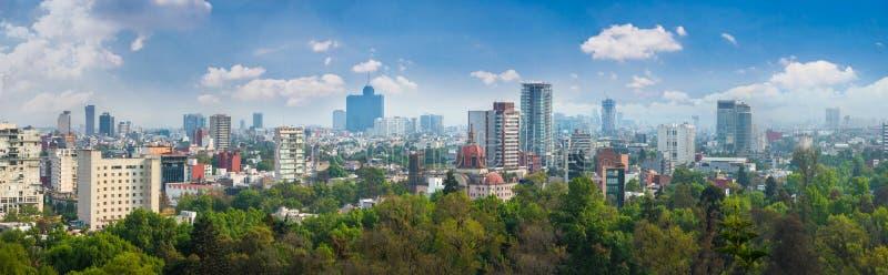 Panoramablick von Mexiko City lizenzfreie stockbilder