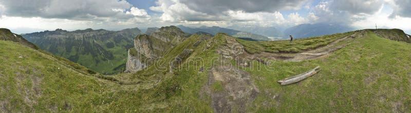 Panoramablick von Niederhorn, Ansicht von Schweizer Alpen switzerland stockbild
