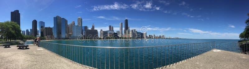 Panoramablick von Nord-Chicago stockfotografie
