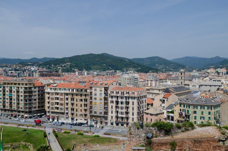 Panoramablick von oben genanntem von Savona lizenzfreies stockbild