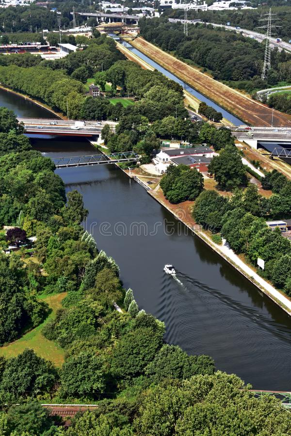 Panoramablick von Ruhr Valley, Deutschland lizenzfreie stockbilder