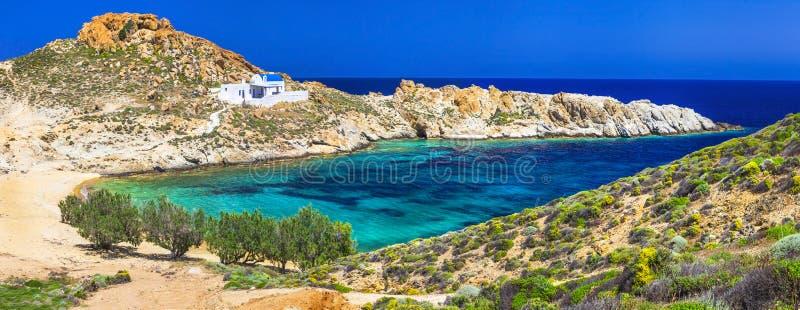 Panoramablick von schöner Serifos-Insel lizenzfreie stockfotos