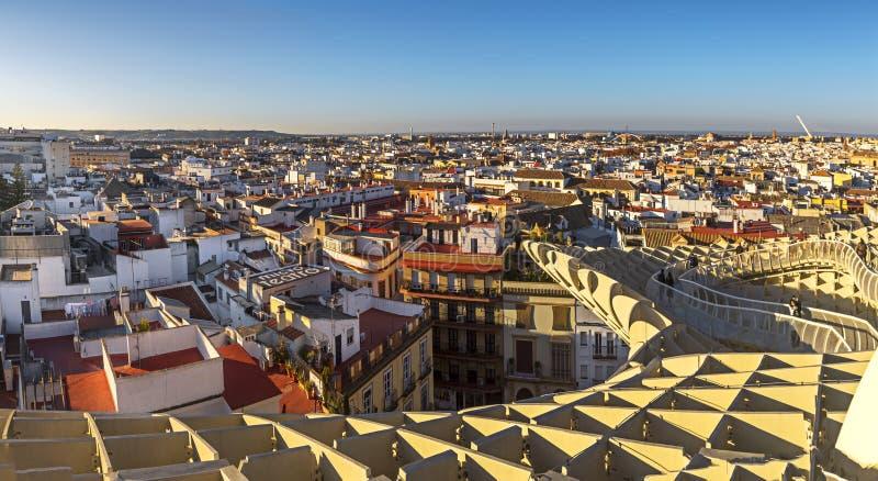 Panoramablick von Sevilla lizenzfreie stockbilder