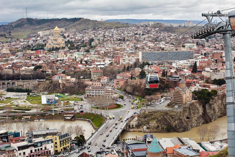 Panoramablick von Tiflis, lizenzfreie stockbilder