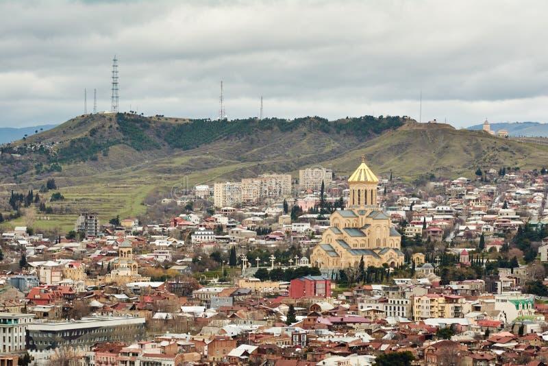 Panoramablick von Tiflis, lizenzfreie stockfotografie