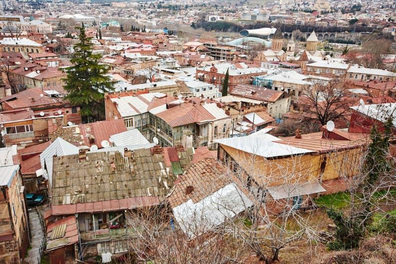 Panoramablick von Tiflis, lizenzfreies stockbild