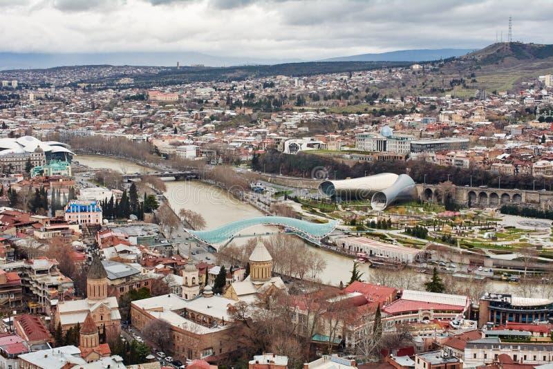 Panoramablick von Tiflis, stockfotografie