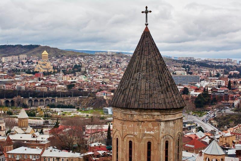 Panoramablick von Tiflis, lizenzfreie stockfotos