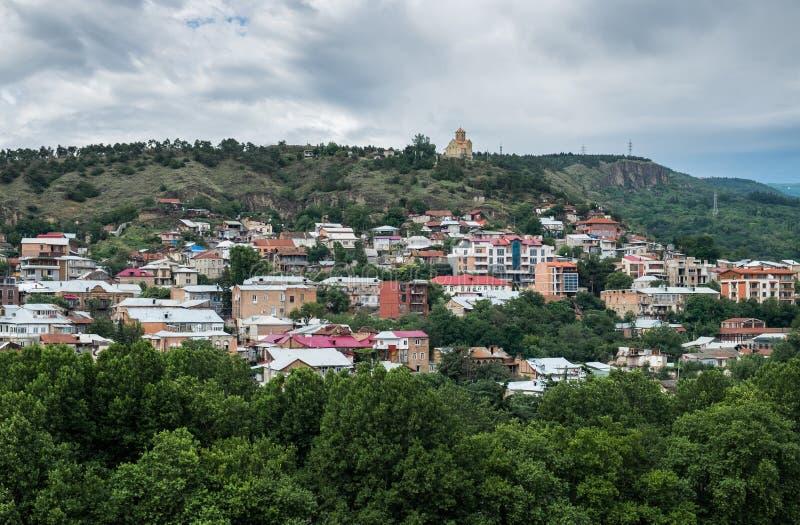 Panoramablick von Tiflis, Hauptstadt von Georgia stockfotos
