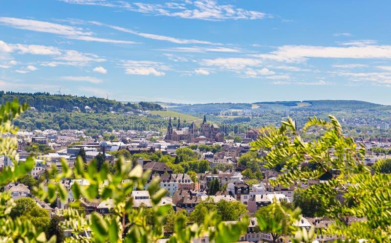 Panoramablick von Trier Rheinland Pfalz Deutschland stockbild