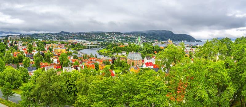 Panoramablick von Trondheim, Norwegen stockfotos