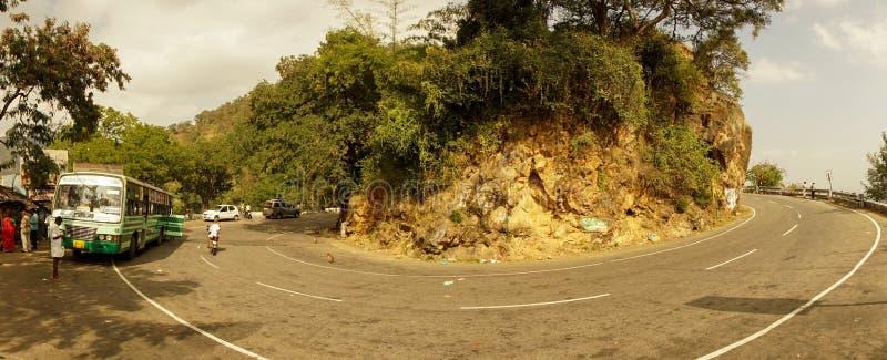 Panoramablicke im Land versehen nahe Madurai, Indien mit Seiten lizenzfreies stockfoto