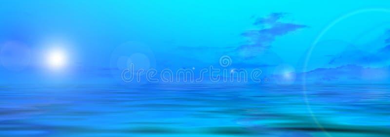 Panoramafoto der Wiese stock abbildung