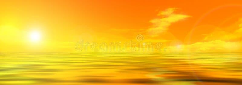 Panoramafoto des Himmels und des Meeres lizenzfreie abbildung